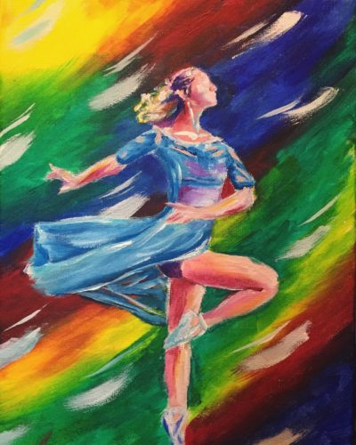 Dance the Night Away 11x14 Acrylic on Canvas by Taylor Wise