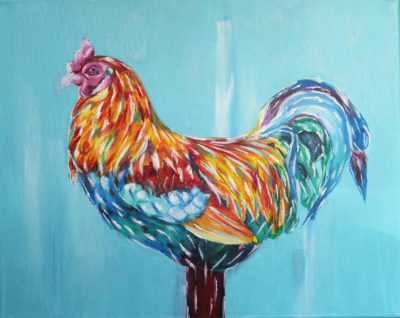 Spring Chicken 16x20 Acrylic on Canvas by Taylor Wise