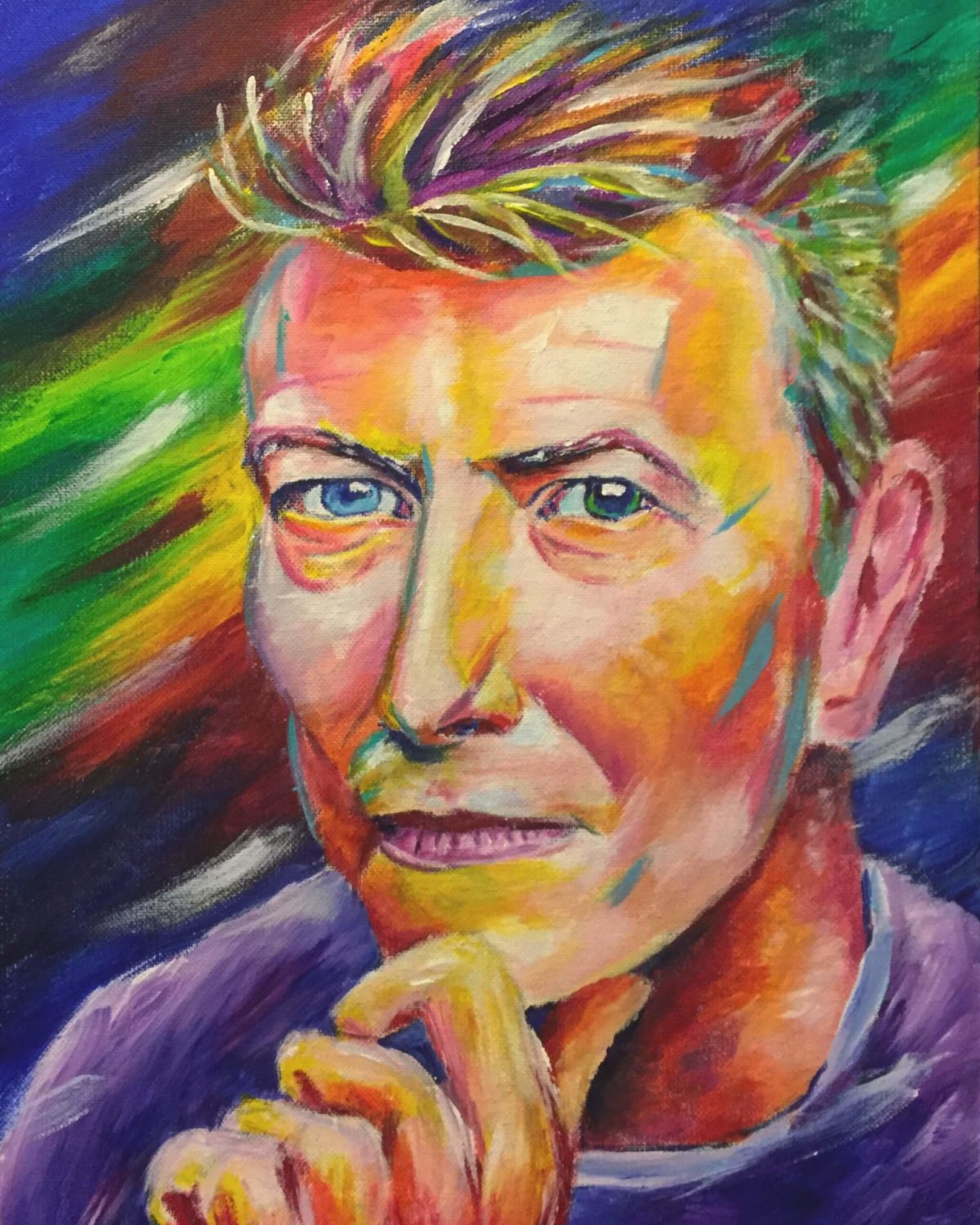 David Bowie 12x16 Acrylic on Canvas by Taylor Wise