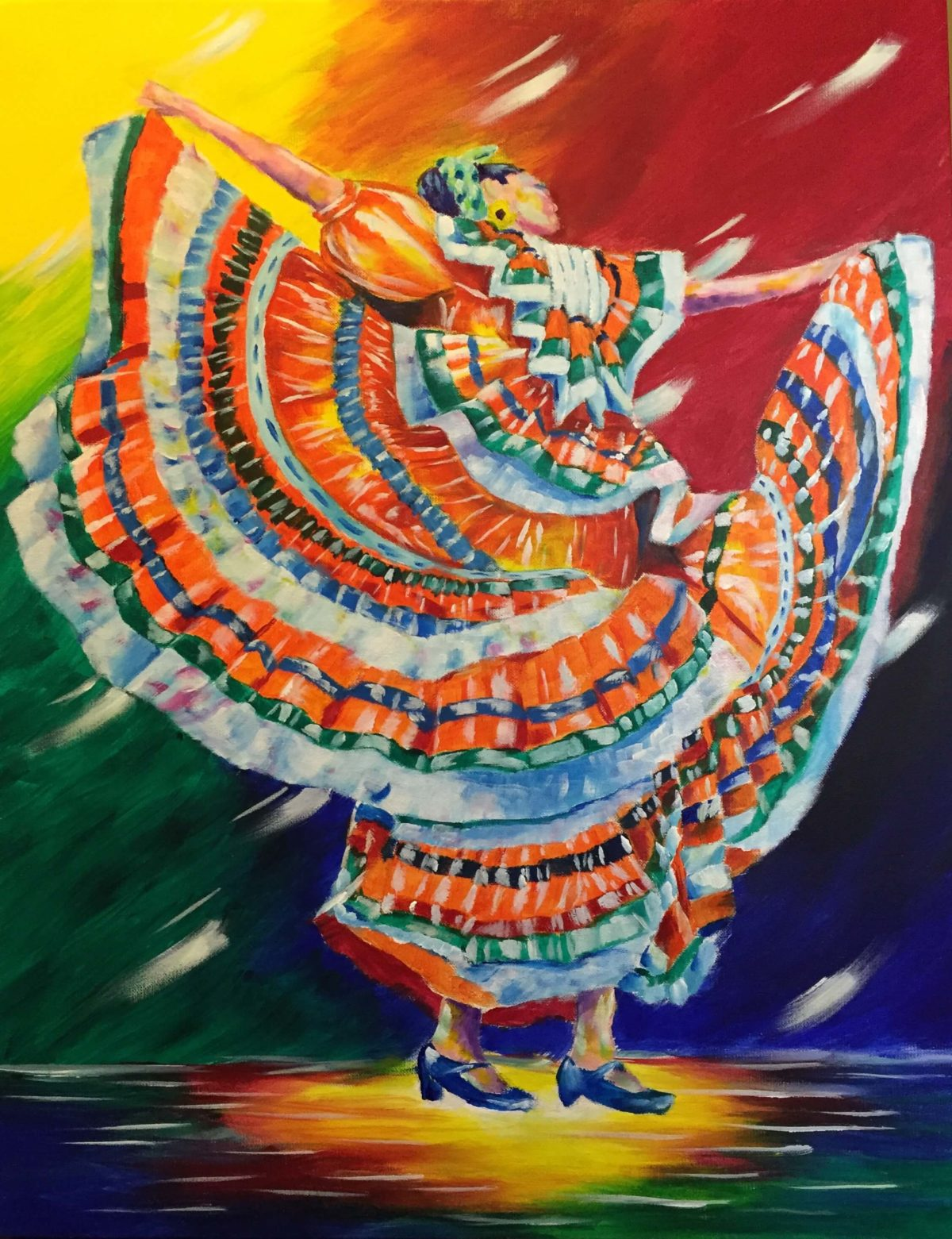 Chicana 22x28 Acrylic on Canvas by Taylor Wise