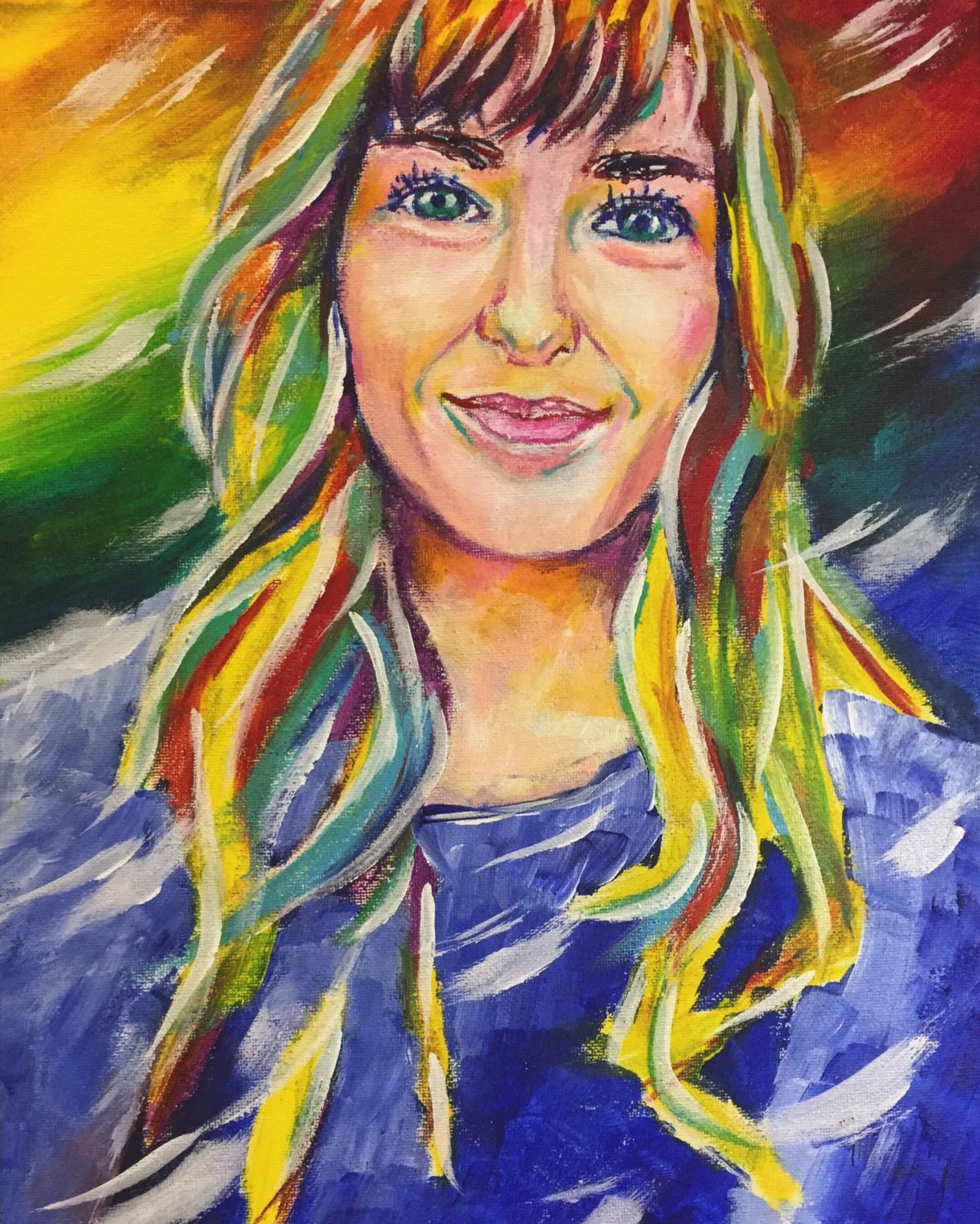 Painting of Amanda 11x14 Acrylic on Canvas by Taylor Wise