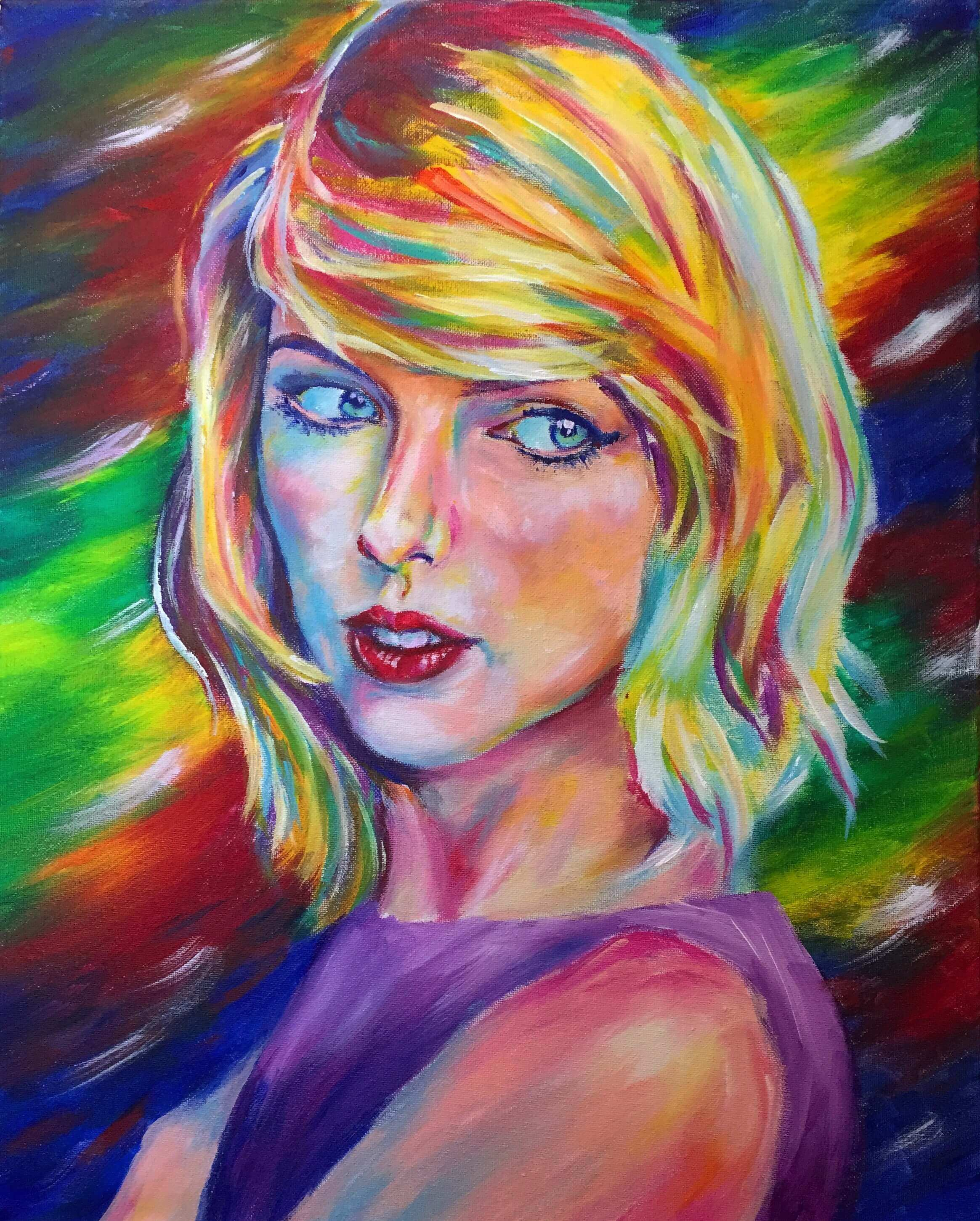 Taylor Swift 16x20 Acrylic on Canvas by Taylor Wise