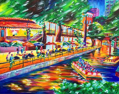 riverwalk painting taylor wise art
