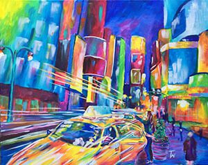 night life painting taylor wise art