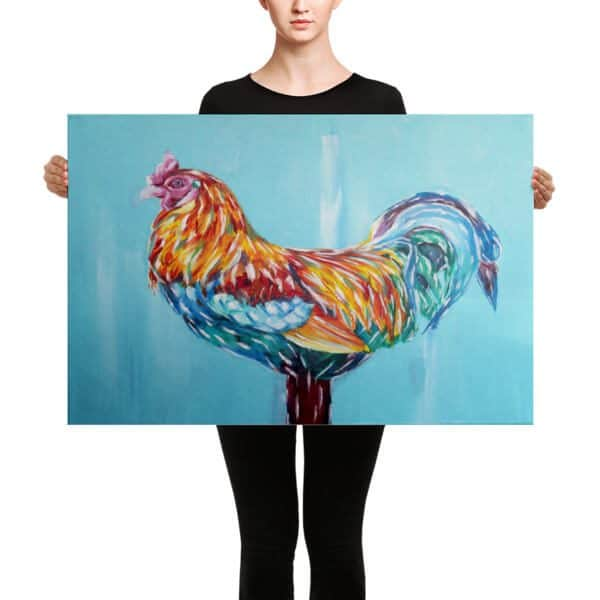 spring chicken painting taylor wise art